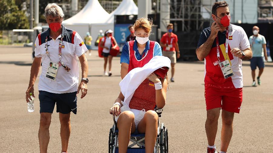 Paula Badosa deixa partida contra Marketa Vondrousova nos Jogos Olímpicos de Tóquio, após quadro de insolação  - David Ramos/Getty Images
