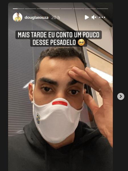Douglas Souza ainda não recebeu as bagagens de sua mudança - Reprodução/Instagram