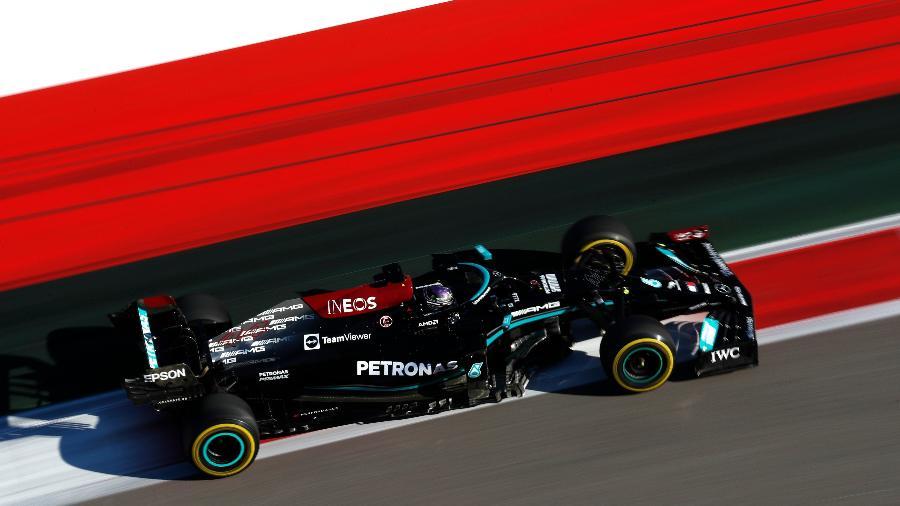 Lewis Hamilton em ação no GP da Rússia, sua centésima vitória na F-1  - Mercedes