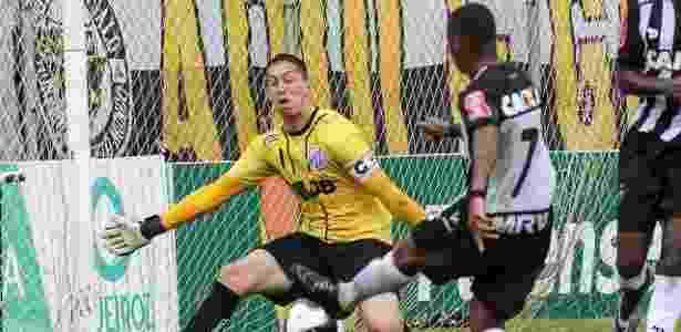 Robinho estreou como titular do Atlético-MG na partida contra a URT - Bruno Cantini/Atlético-MG