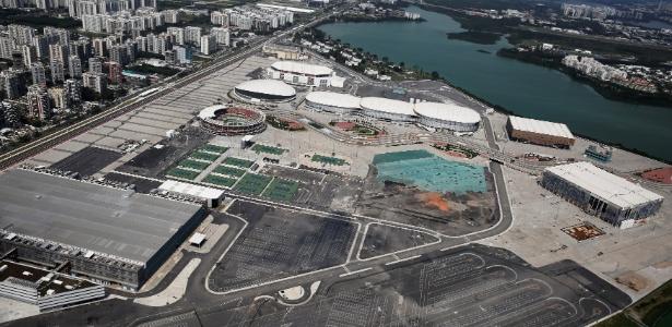 Vista aérea do Parque Olímpico da Rio-2016: uso de legado segue indefinido