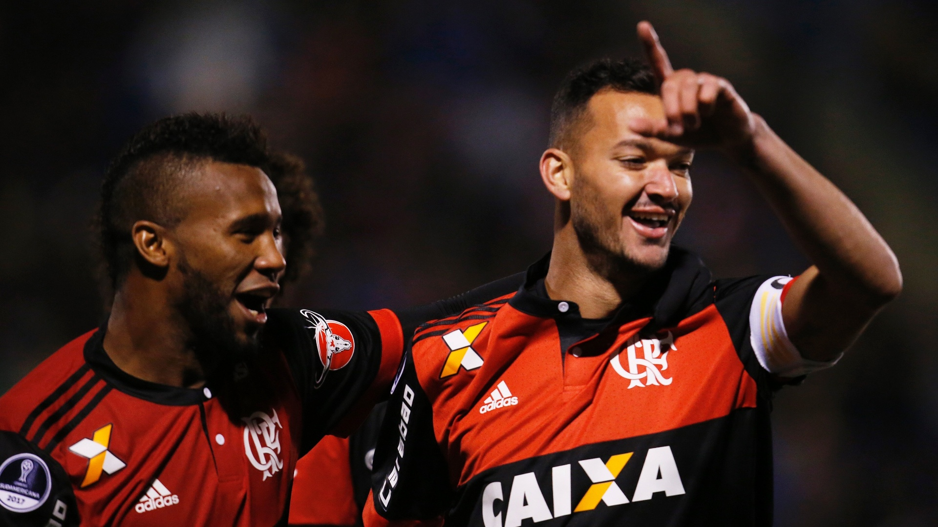 Rever abriu o placar para o Flamengo contra o Palestino na Sul-Americana