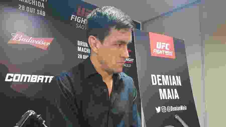 Demian Maia, durante entrevista coletiva para o UFC São Paulo - Brunno Carvalho/UOL