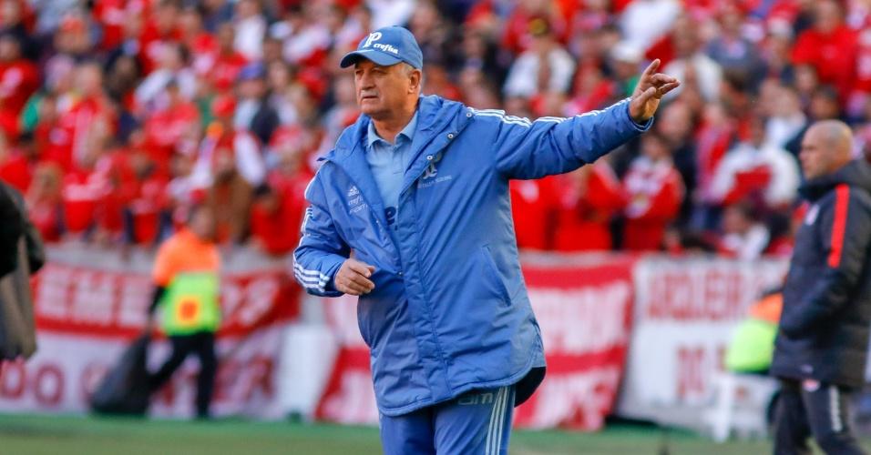 Felipão, técnico do Palmeiras, durante partida contra o Internacional