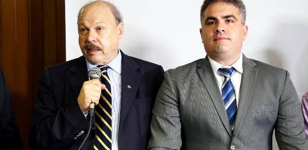 Presidente José Carlos Peres e o vice Orlando Rollo