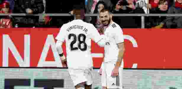 Fora de casa, atacante francês marcou duas vezes diante do Girona  - Albert Gea/Reuters