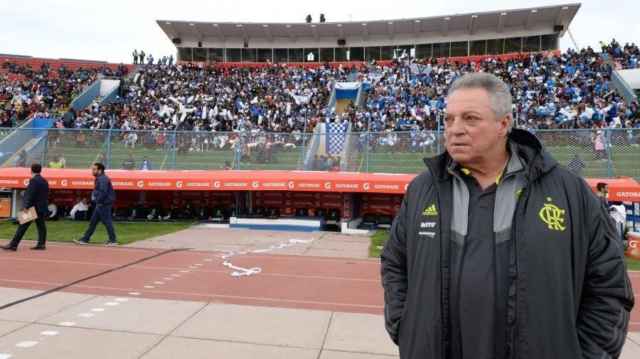 Abel Braga, durante partida entre Flamengo e San José - Alexandre Vidal / Flamengo