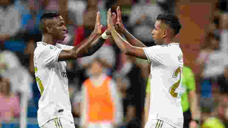 Vinícius Júnior e Rodrygo, do Real Madrid - David S. Bustamante/Soccrates/Getty Images - David S. Bustamante/Soccrates/Getty Images