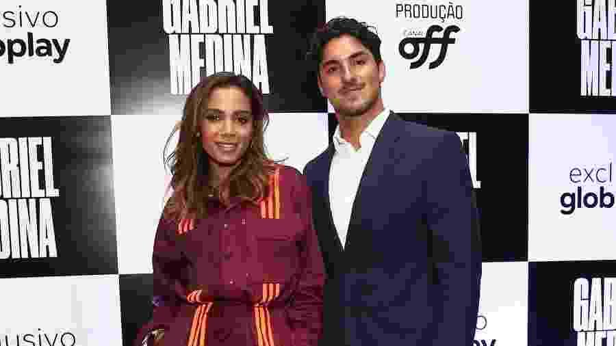 Anitta e Gabriel Medina durante lançamento de documentário do surfista feito pelo canal Off - Manuela Scarpa/Brazil News