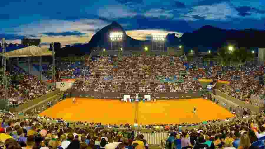 Arena montada para o Rio Open - Divulgação/Rio Open