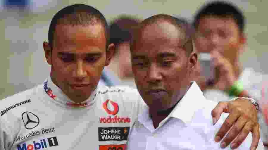 Lewis Hamilton e seu pai, Anthony Hamilton  - Mark Thompson/Getty Images