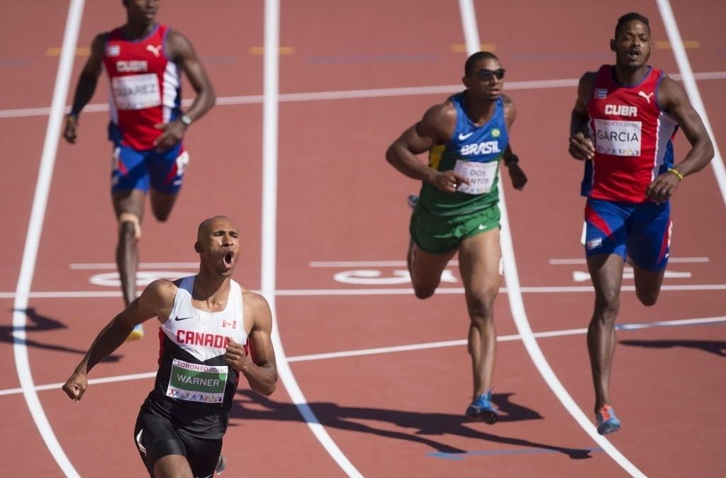 Decatleta brasileiro Felipe dos Santos em ação no atletismo dos Jogos Pan-Americanos