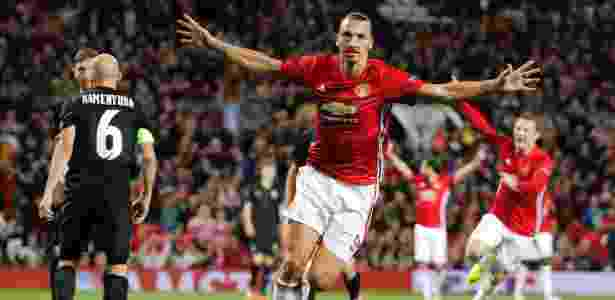 Ibrahimovic comemora o gol do Manchester United - Darren Staples/Reuters