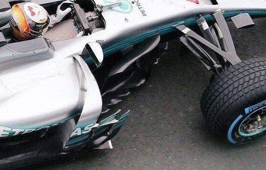Detalhe do novo carro da Mercedes