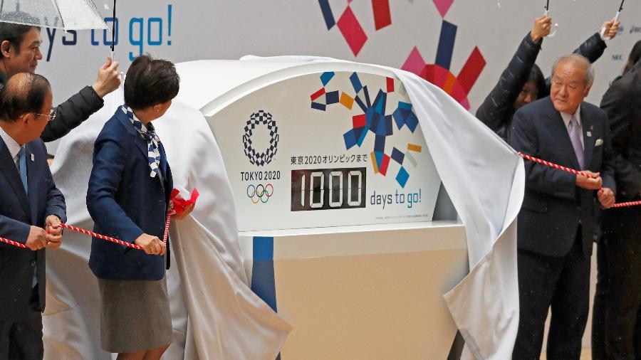 Tóquio lança relógio de contagem de dias para a Olimpíada de 2020 - REUTERS/Issei Koto