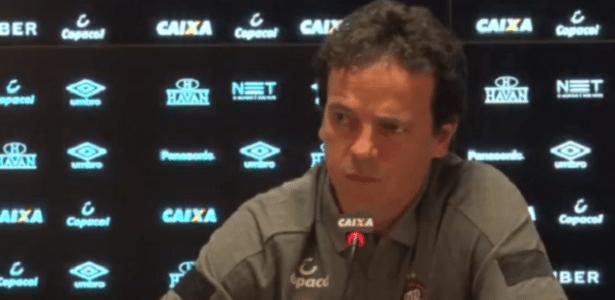 Fernando Diniz defendeu o modelo de jogo do Atlético diante do Palmeiras