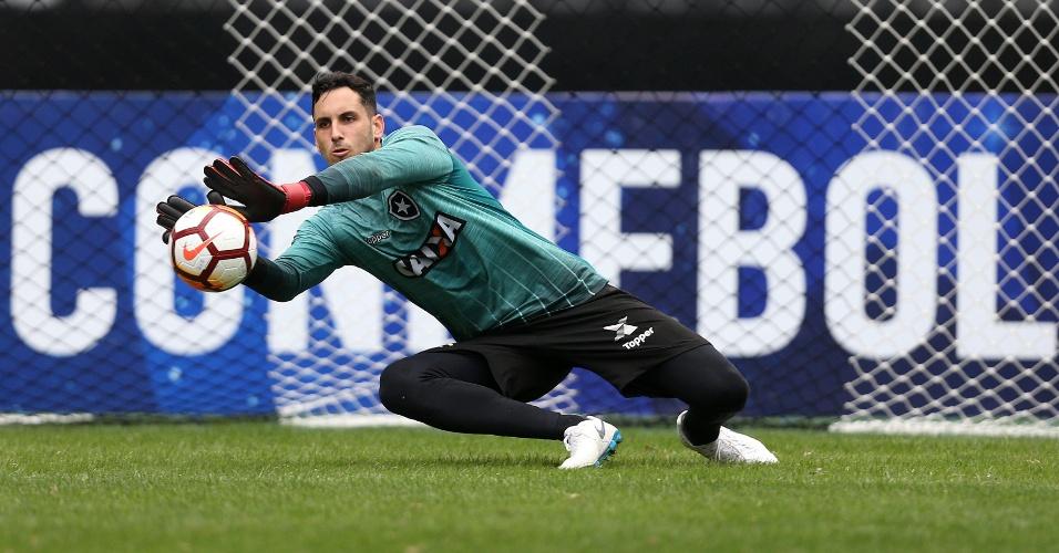 O goleiro Gatito Fernandez em treino do Botafogo