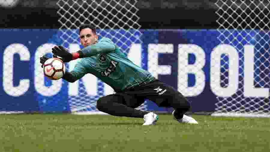 O goleiro Gatito Fernandez em treino do Botafogo - Vitor Silva/SSPress/Botafogo