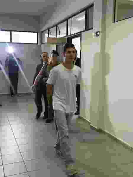 Eduardo Purkote após audiência de custódia - Bruno Abdala/UOL