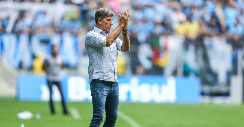 Renato Gaúcho comanda o Grêmio diante do Corinthians pela 38ª rodada do Campeonato Brasileiro 2018