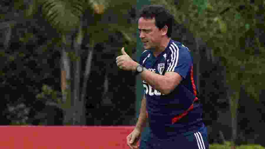 Técnico Fernando Diniz comanda treinamento do São Paulo no CT da Barra Funda - Rubens Chiri / saopaulofc.net