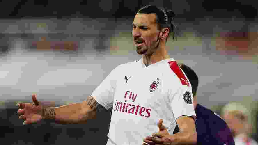 Ibrahimovic tem contrato no fim com o Milan e negocia renovação - Gabriele Maltinti / Getty Images