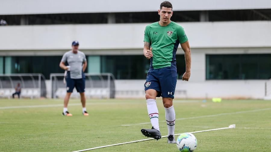 Nino se machucou durante o último treino do Fluminense - Lucas Merçon/Fluminense FC