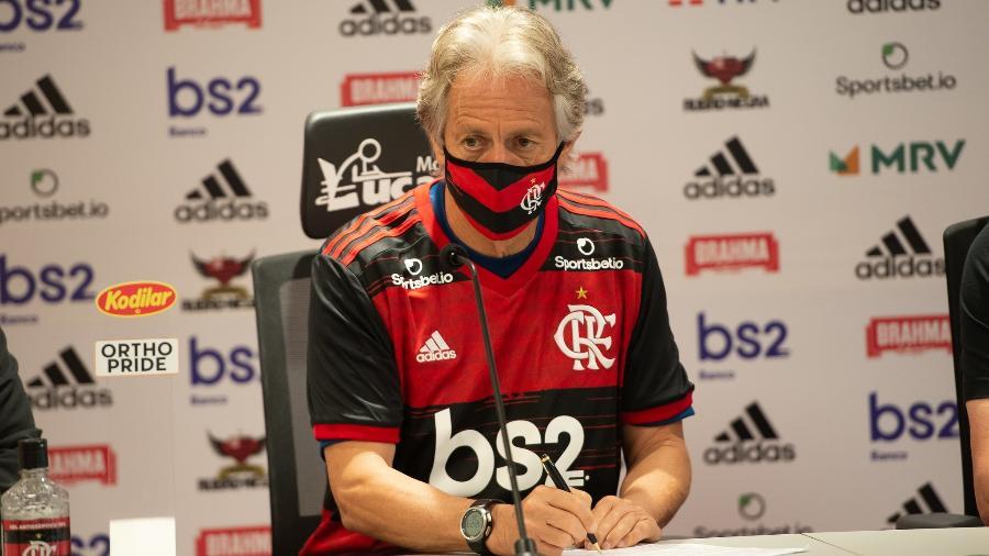 Jorge Jesus mira posto de maior da história do Flamengo