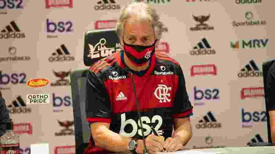 Jorge Jesus assina contrato com o Flamengo até meio de 2021 - Alexandre Vidal / Flamengo