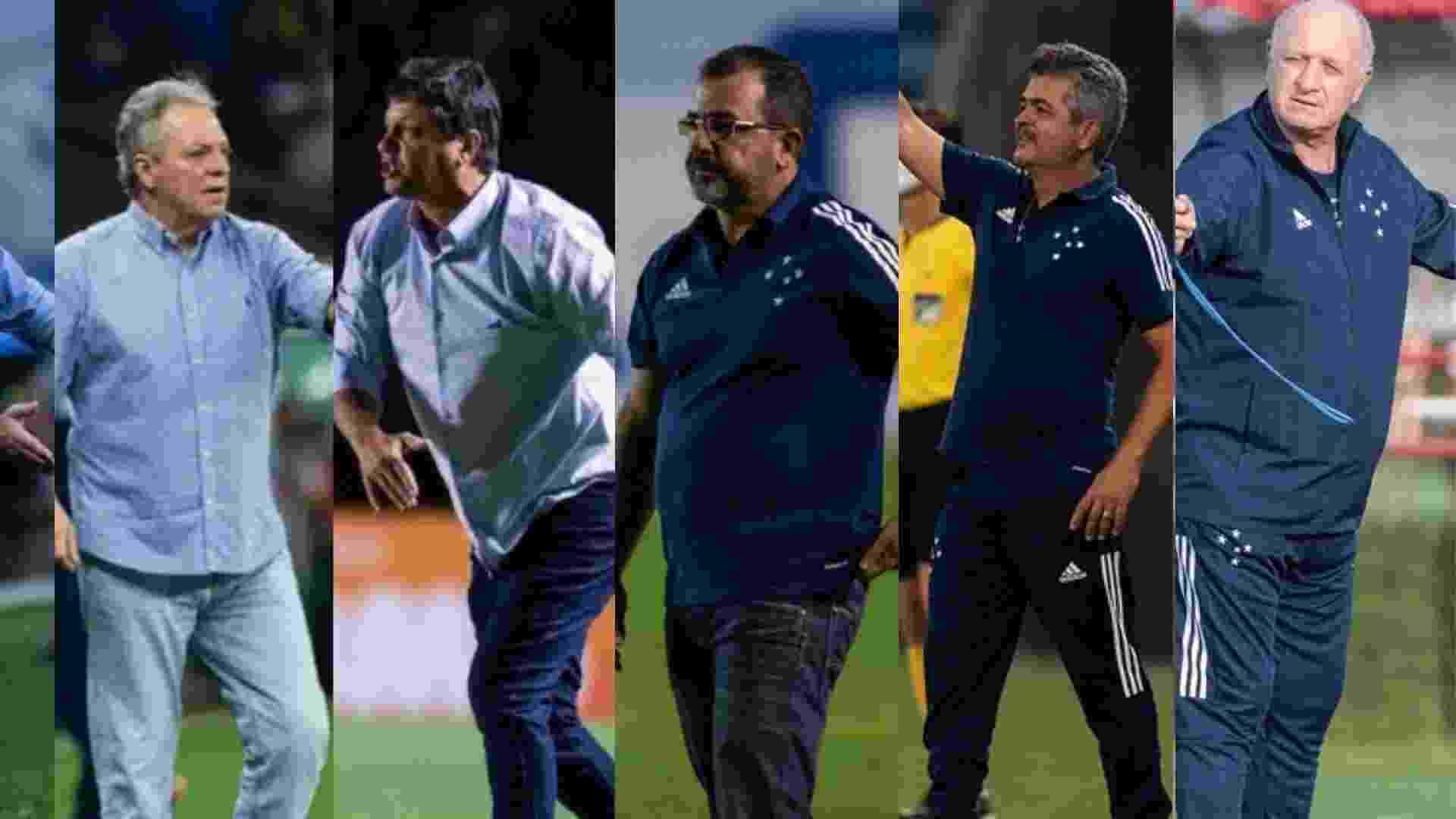 Depois de Mano passaram pelo Cruzeiro Ceni, Abel, Adilson, Enderson, Ney Franco e Felipão - undefined