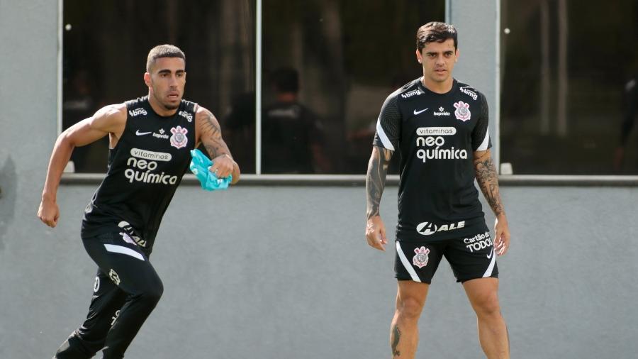 Gabriel e Fagner serão titulares do Corinthians na estreia da equipe na Copa Sul-Americana  - Rodrigo Coca/ Ag. Corinthians