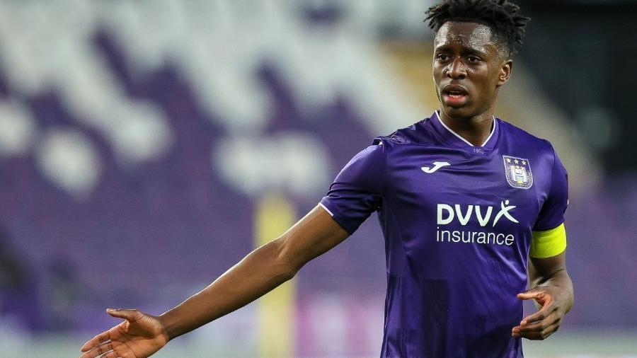 Albert Sambi Lokonga, jogador do Anderlecht e da seleção belga - Herman Dingler/BSR Agency/Getty Images