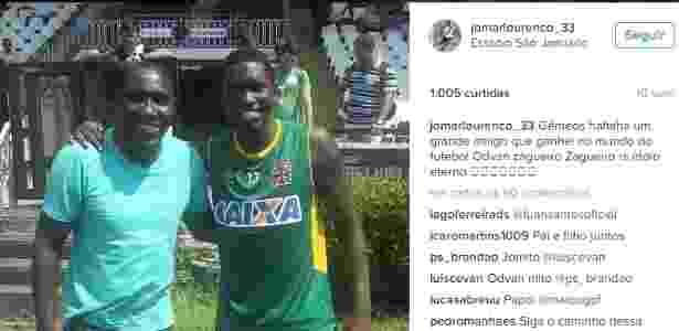 Odvan e Jomar posaram para fotos juntos este ano em São Januário - Divulgação / Instagram