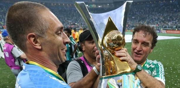 Fernando Prass jogou e levantou a taça no Allianz Parque - Cesar Greco/Fotoarena