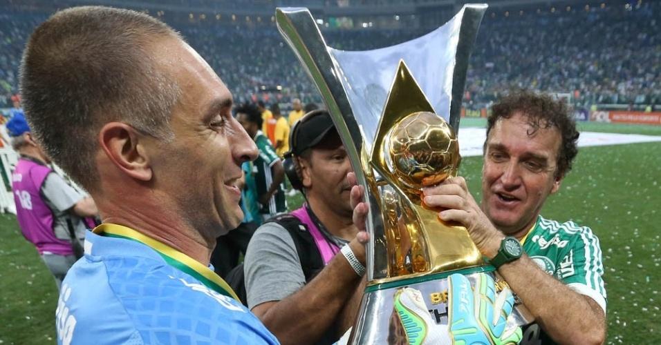 Fernando Prass Palmeiras Cuca troféu