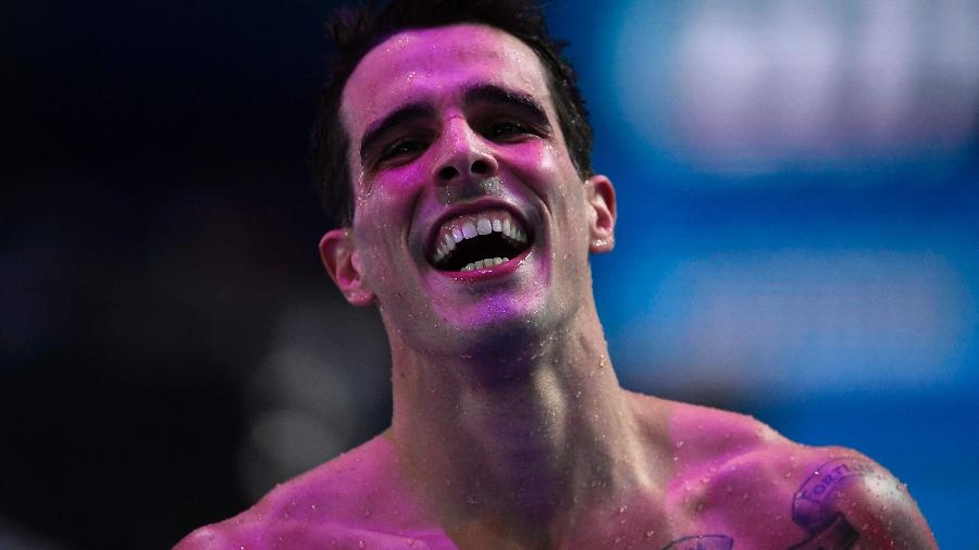 Bruno Fratus conquista a prata dos 50 metros livre no Mundial de Budapeste - AFP PHOTO / CHRISTOPHE SIMON
