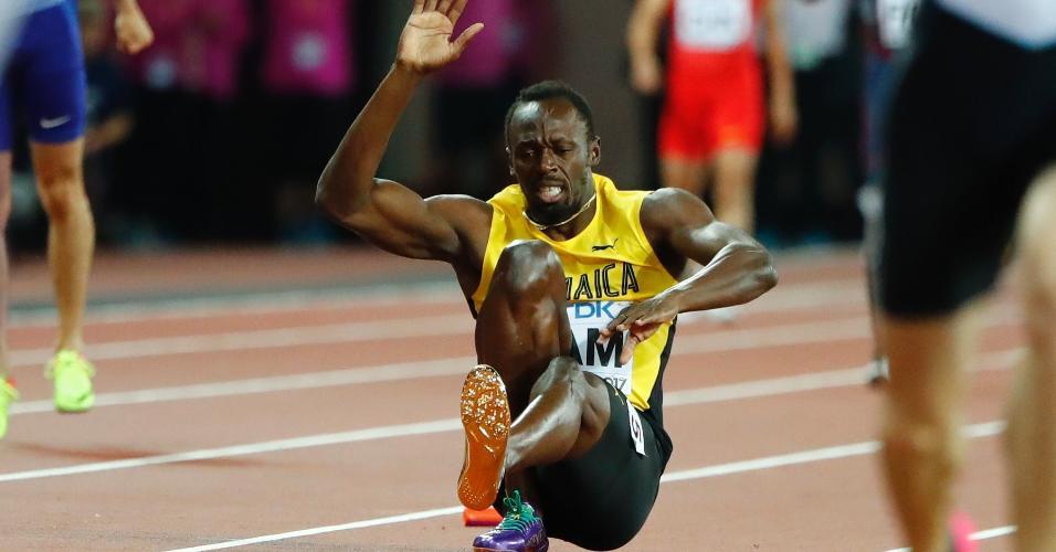 Usain Bolt sente lesão em sua última prova