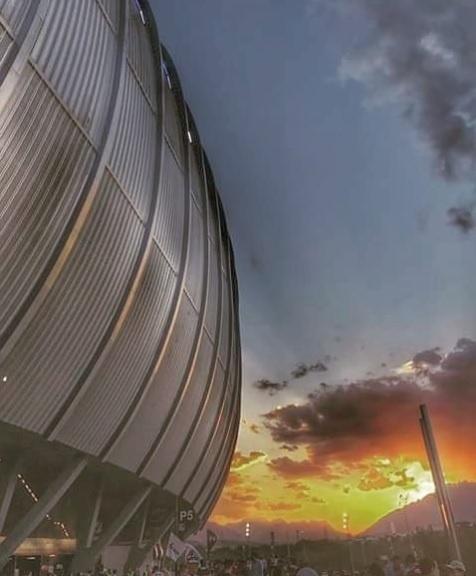 Vista do estádio BBVA Bancomer, na região metropolitana de Monterrey, no México