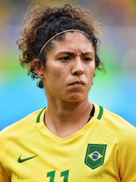 Cristiane com a camisa da seleção brasileira em 2016 - Stuart Franklin/FIFA via Getty Images