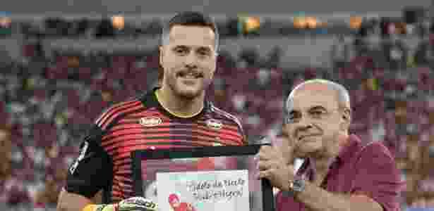 Julio Cesar homenagem - Thiago Ribeiro/AGIF - Thiago Ribeiro/AGIF