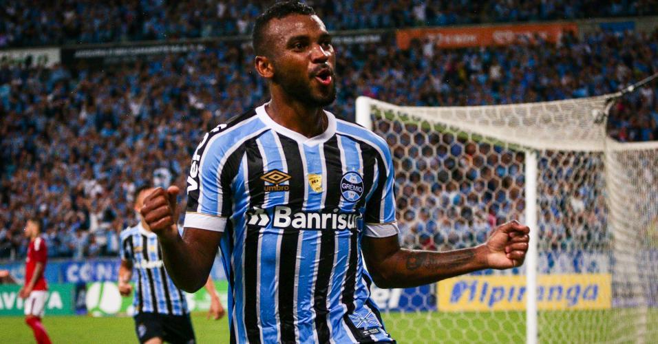 Leonardo Grêmio comemoração Internacional
