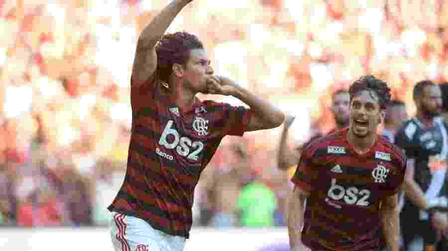Willian Arão comemora gol do Flamengo diante do Vasco no segundo jogo das finais do Campeonato Carioca 2019 - Alexandre Vidal/Flamengo