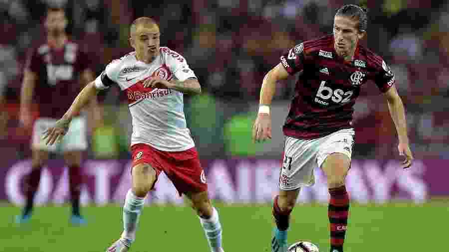 Filipe Luís é um dos destaques do sistema defensivo do Flamengo -     Thiago Ribeiro/AGIF