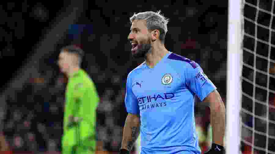 Aguero abriu o placar em Sheffield x Manchester City - Mike Egerton / PA Images via Getty Images