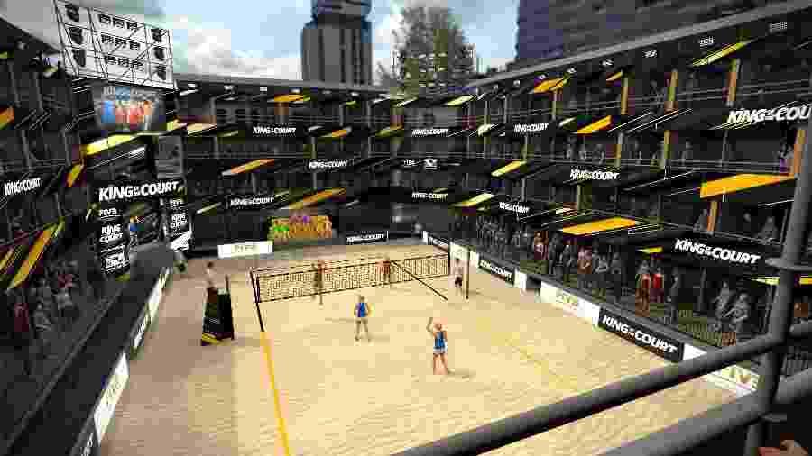 Projeto de estrutura para o vôlei de praia - FIVB/Divulgação