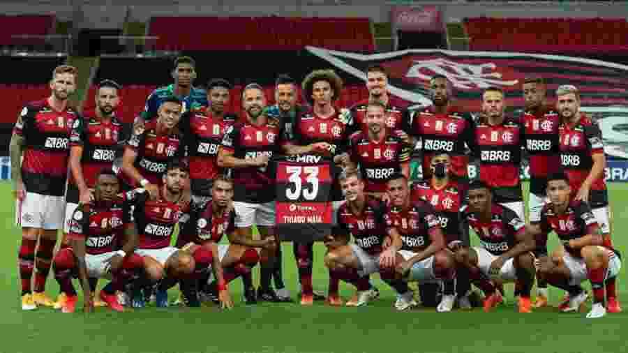 Jogadores do Flamengo homenageiam Thiago Maia - Reprodução/Twitter