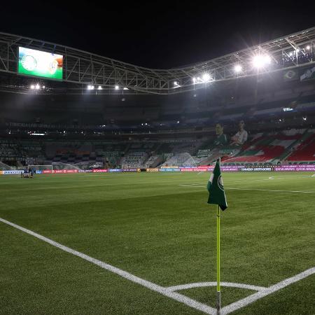 Allianz Parque pronto para Palmeiras x River Plate pela semifinal da Copa Libertadores 2020 - AMANDA PEROBELLI / POOL / AFP