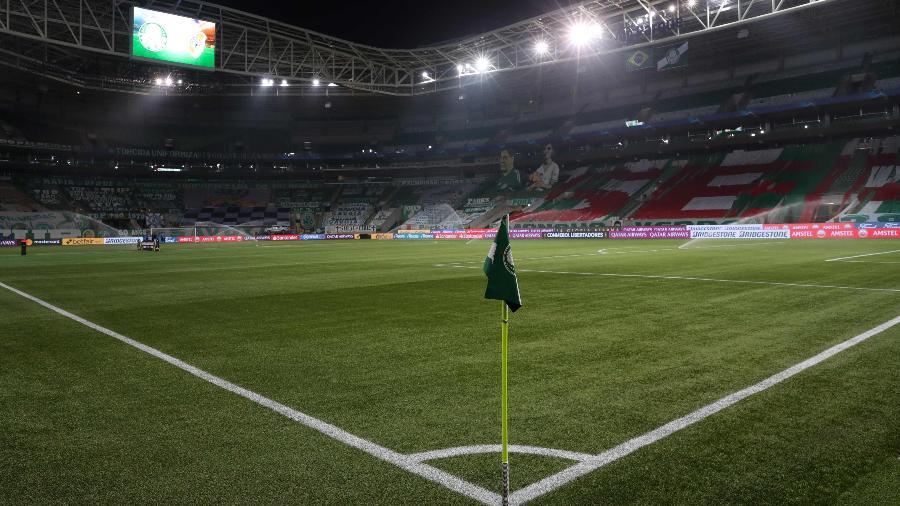Allianz Parque, palco de Palmeiras x Corinthians deste domingo - AMANDA PEROBELLI / POOL / AFP