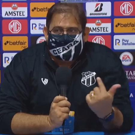 Guto Ferreira após a partida contra o Arsenal, na Argentina - Reprodução Youtube/TV Conmebol