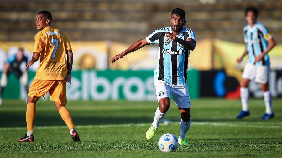 Thiago Santos acredita que o Grêmio atingiu seu objetivo contra o Brasiliense - Lucas Uebel/Grêmio